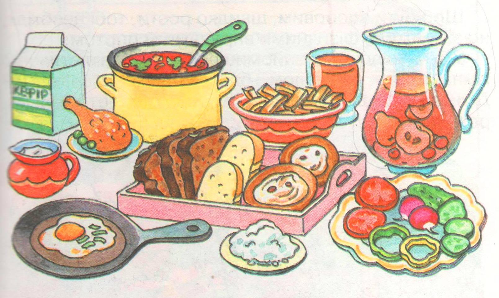 Картинки как рисовать продукты