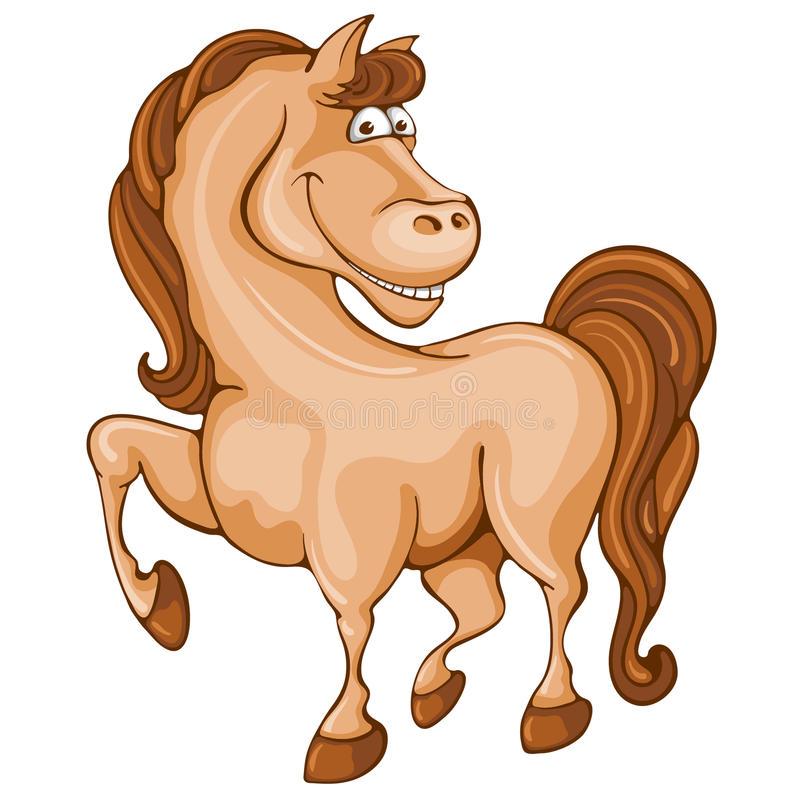 Рисунок смешного коня